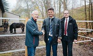 Offizielle Übergabe der Exmoor-Ponys an den PSV Grünstädtel in Schwarzenberg.