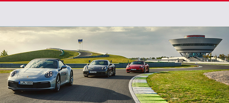 Porsche on asphalt
