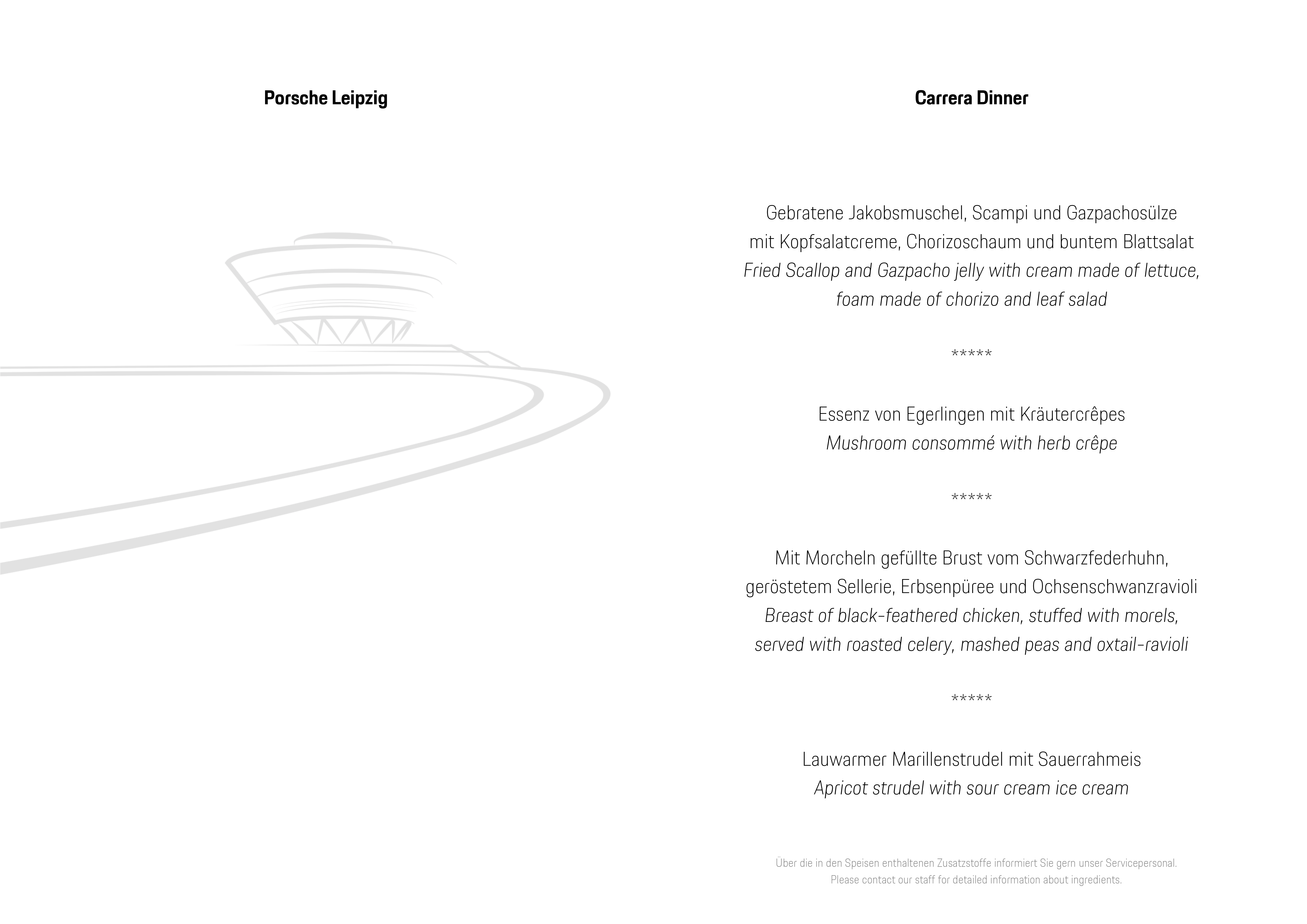 Carrera Dinner - Porsche Leipzig GmbH